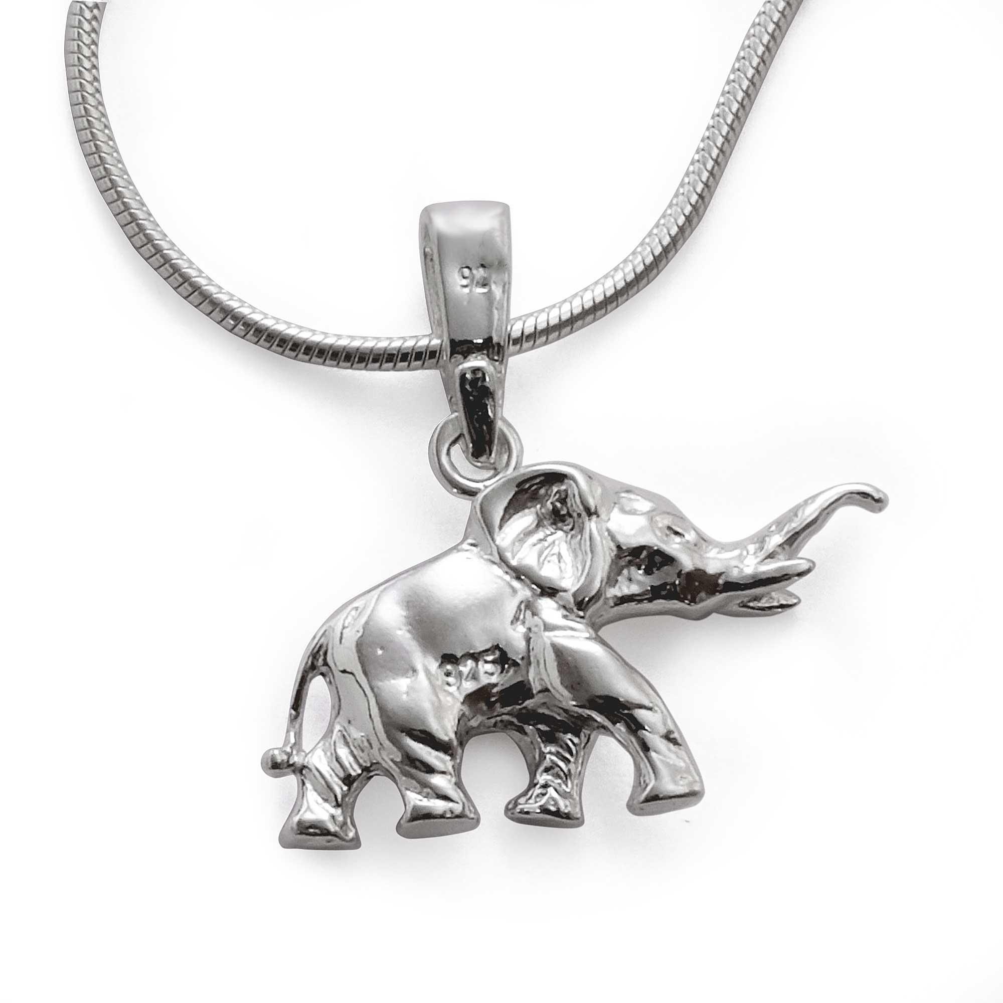 gl ckssymbol elefant kettenanh nger mit schlangen halskette sterling silber 925 gestempelt. Black Bedroom Furniture Sets. Home Design Ideas