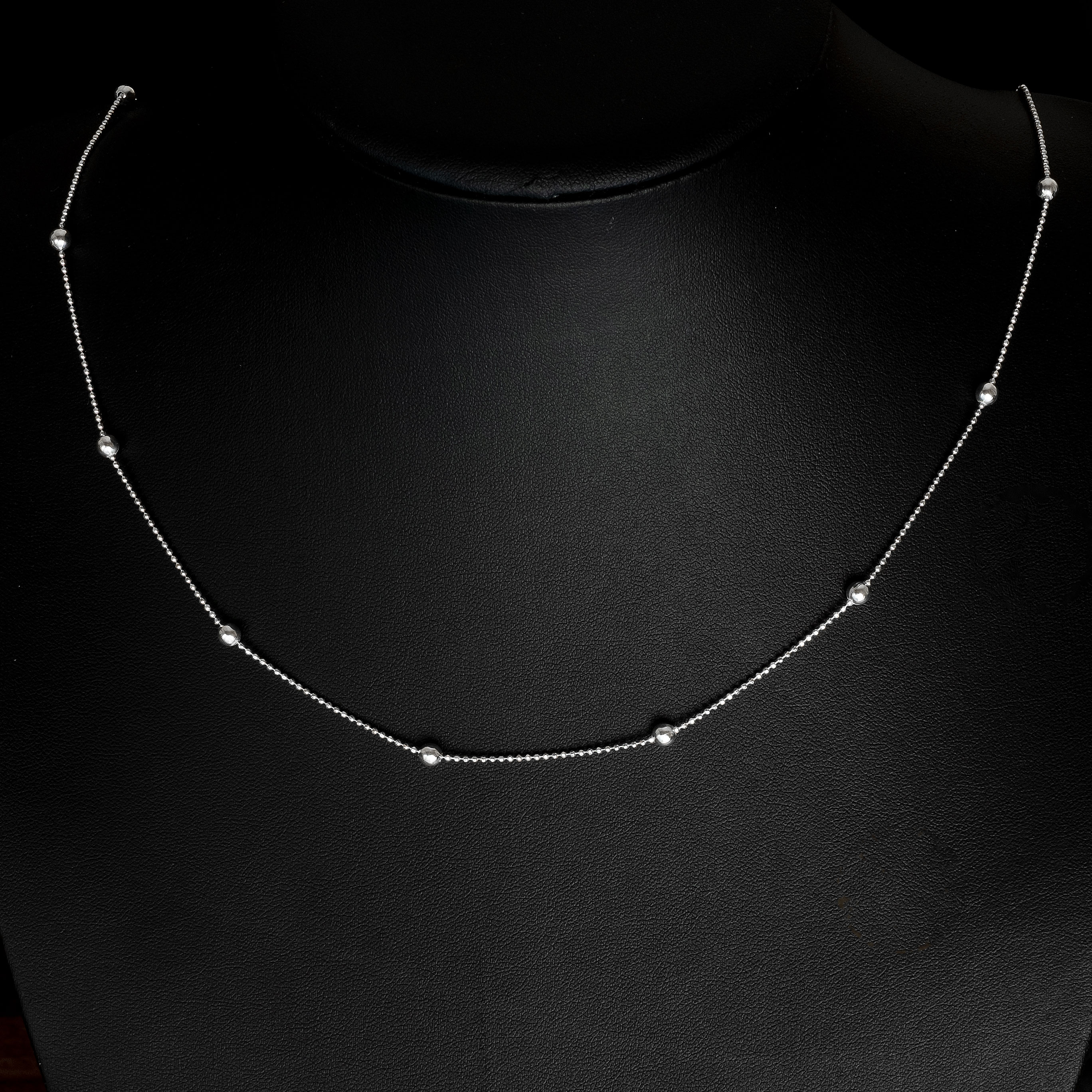 48a3c76ca3e6c Ball Chain 925 Sterling Silver Silver Ball - Jewelry Necklace 45-80cm New-  Model