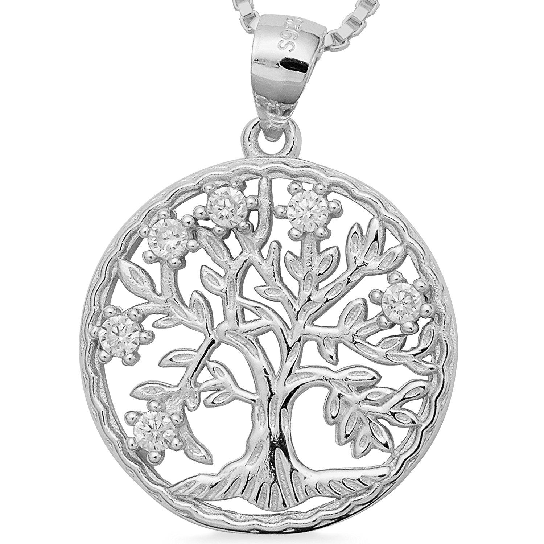 925 Silber Lebensbaum Amulettbaum Zirkonia Baum Anhänger filigrane  Kettenanhänger Baum des Lebens  1724 49c0fd6ce0