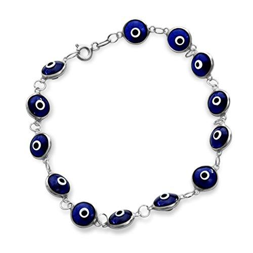 bff5b63e4d Ladies Mens Girl Beads Bracelet, Evil Evil Eye made of 925 sterling silver  #1872