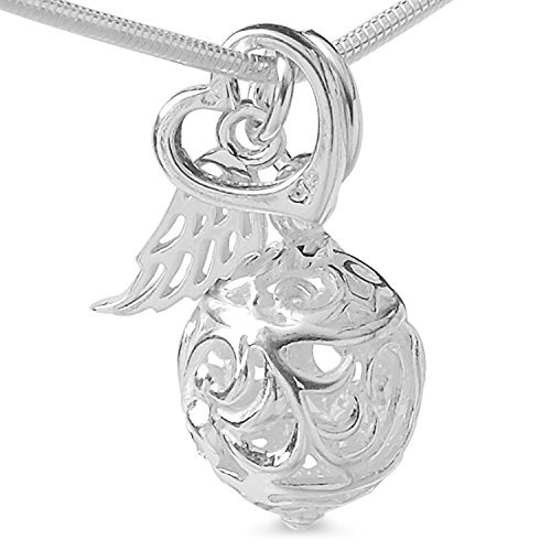Angel Dream Ball Chain Angel Wing Heart Pendant 4 Pieces Set